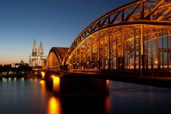 Hohenzollernbrücke und Dom, Köln