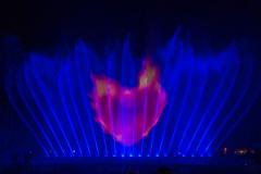 Licht-Wasser-Spiele - Blau mit Herz