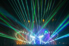 Licht-Wasser-Spiele - Blau Grün Laser