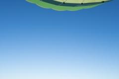 Heißluftballon mit Schatten