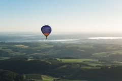 Heißluftballon über dem Siebengebirge