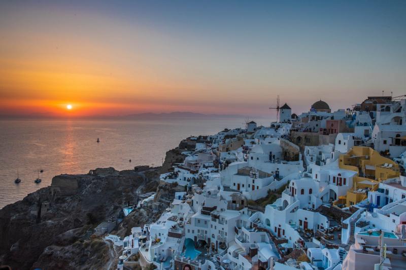 Sonnenuntergang in Oia auf Santorini