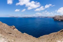 Panorama von der Caldera auf Santorini