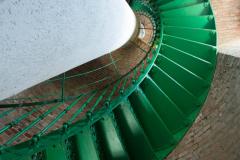 Wendeltreppe im Leuchtturm auf dem Darß